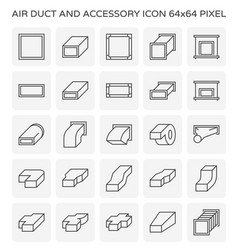 air duct icon vector image