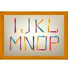 alphabet design vector image