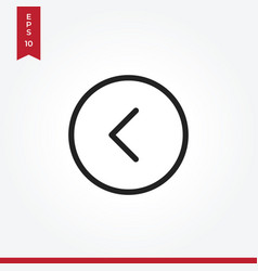 arrow left icon in modern style for web site and vector image