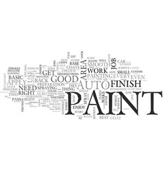 auto paint how to a basic guide text word cloud vector image