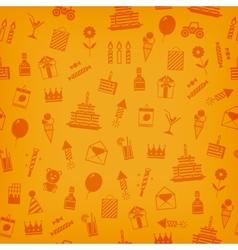 Birthday anniversary jubilee party invitation card vector image