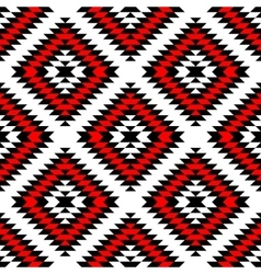 Black red and white aztec ornaments geometric vector image