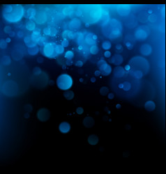 blue bokeh abstract background eps 10 vector image