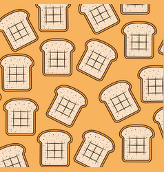 bread slice pattern colorful in sepia background vector image