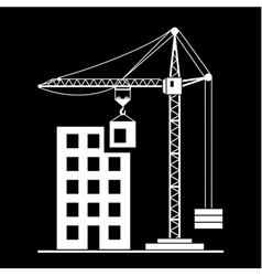 building Construction with Crane vector image