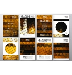 Business templates for brochure flyer or booklet vector image