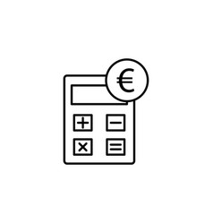 calculator euro icon element of finance signs vector image