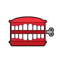 Chatter teeth toy isolated april fools day symbol vector