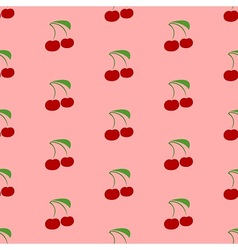 Cherry garden in summer vector image