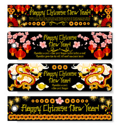 chinese new year greeting tags vector image