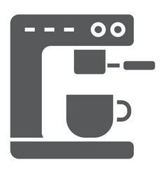 Coffee machine glyph icon kitchen and cooking vector