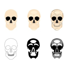 Collection icons human skulls logo in various vector