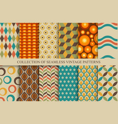 collection of seamless colorful patterns vector image