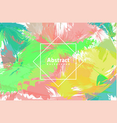 Colorful abstract painted background vector
