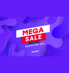 Creative mega sale discount banner template with vector
