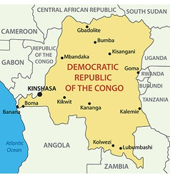 Democratic Republic of the Congo - map vector image