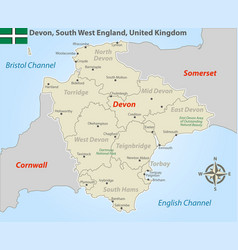 Devon south west england uk vector