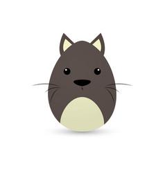 easter dog egg vector image