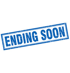 ending soon square stamp vector image