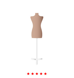 fashion stand female torso mannequin it is icon vector image