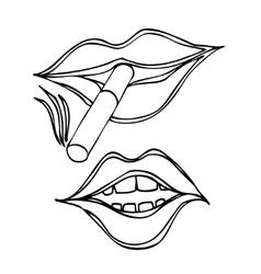 Female lips vector