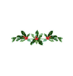 Festive christmas holiday decor vector