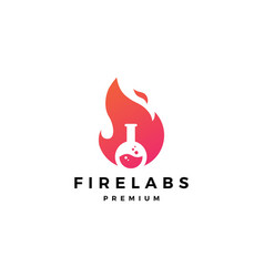 fire lab logo flame icon design inspirations vector image