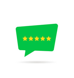 five rating star like positive feedback vector image