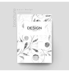 floral ornament brochure template Flyer vector image