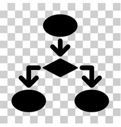 Flowchart icon vector