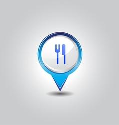 Food pins vector