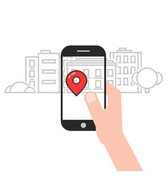 geo location service mobile app vector image