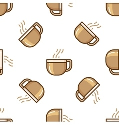 Glass coffee cup pattern vector