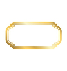Gold frame simple white vector image