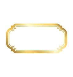 Gold frame simple white vector