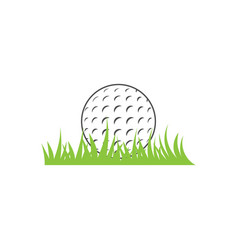 golf sport graphic design inspiration vector image
