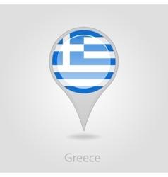 Greece flag pin map icon vector