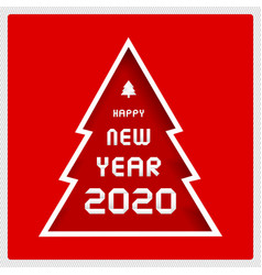 happy new year 2020 greeting card for decoration vector image