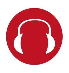 headphone sign icon vector image