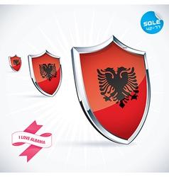 I Love Albania Flag vector