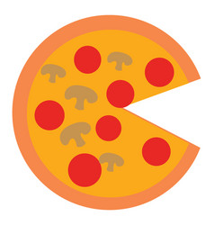image pizza or color vector image