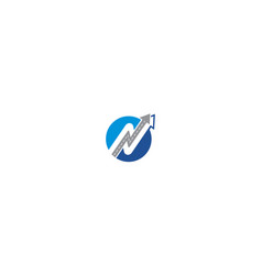 initial n road icon logo technology vector image
