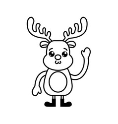isolated reindeer design vector image