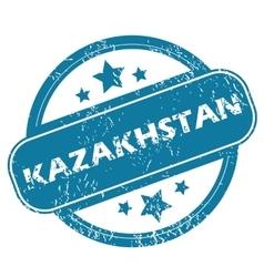 KAZAKHSTAN round stamp vector image
