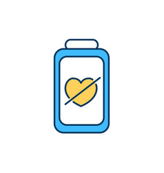 Lacking love and affection rgb color icon vector