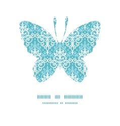 Light blue swirls damask butterfly vector