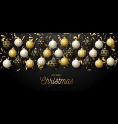 luxury christmas and new year square greeting vector image