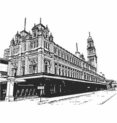 luz railway station vector image