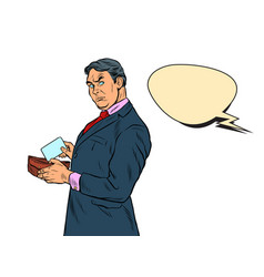 male businessman buyer vector image