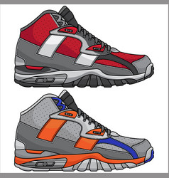 Modern sports shoes vector